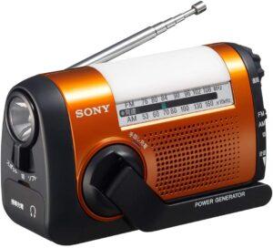 ソニー ポータブルラジオ ICF-B09 - FM:AM:ワイドFM対応 手回し充電対応 オレンジ ICF-B09 D