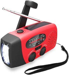 防災ラジオ, Solarmks ソーラーラジオ 懐中電灯 非常用照明 手回し充電 USB充電 1000mAh AM:FM受信ラジオ 付き 多機能防災グッズ 震災 津波 台風 停電などの緊急に対応