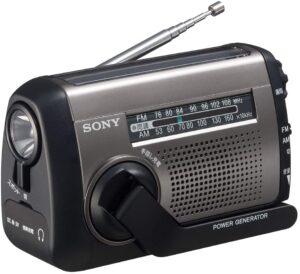 ソニー ポータブルラジオ ICF-B99 - FM:AM:ワイドFM対応 手回し充電:太陽光充電対応 シルバー ICF-B99 S