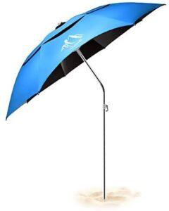 BESROY パラソル 釣り傘 釣り用パラソル 新型アナログで日焼けと99%UVカット チルト機能付 360°回転調節 折り畳み式 収納バッグ付き ガーデンパラソル ビーチ