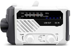 NAGI一年保証 防災ラジオ 手回し充電ラジオ 災害グッズ ラジオライト PSE FCC EMC RoHs 四重認証 懐中電灯 USB充電 乾電池対応 手回し充電 ソーラー充電 電池残量表示